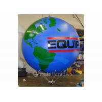 Logo Printing Globe Round Earth Advertising Balloon , Inflatable World Globe Manufactures