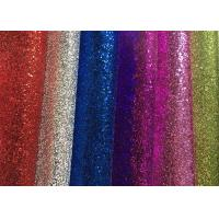 Quality Waterproof Colorful Glitter Wall Fabric , Glitter Fabric Roll PU Material for sale