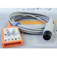 5 Lead Patient Monitor Ecg Accessories , Holter Ecg Cable Iec Standard Manufactures