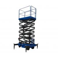 Quality Platform Height 11m Mobile Scissor Lift With Electrical Driving System Loading Capacity 450kg for sale