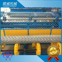 Stainless Wire / Hot Dip Wire Chain Link Mesh Machine , Chain Link Wire Machine Manufactures