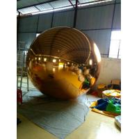 Round Golden PVC Inflatable Mirror Ball Double / Triple Stitches Manufactures