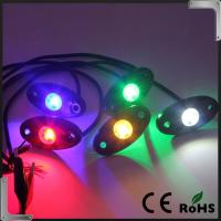 RGB Bluetooth Control 9-32V DC Led Rock Light , IP68 Jeep Off Road Rock Lights Manufactures