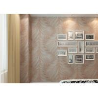 China Modern Style Washable Vinyl Wallpaper Golden Leaf Pattern Vinyl Wall Coverings on sale