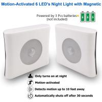 ABS Motion Sensor Night Lamp / Hotels Battery Powered Motion Night Light Manufactures