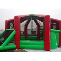 0.55mmPVC Tarpaulin Outdoor Inflatable Sports Games Kids / Adults With Red And Green Manufactures