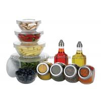 11 pcs Eco - friendly  clear glass salad bowl set for fruit ,  ice cream Manufactures
