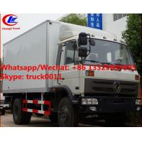 High quality and competitive price dongfeng 10tons 170hp diesel cold room truck for sale, refrigerator van truck Manufactures