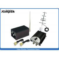China High Integrated CCTV Analog Video Wireless Transmitter With 5000mW Output Power , AV Interface on sale