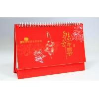 Quality customization desktop calendar offset paper printing hardcover binding for sale