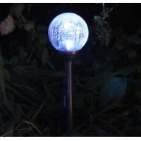Quality Beautiful Solar Ball Lights / Solar Crackle Glass Ball Lights With Changing for sale