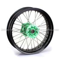 Quality Front Rear Custom Motorcycle Wheels Forged Alloy 17 Black Rims Supermoto Wheels for sale