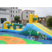 China Orange Inflatable Pool Games / Inflatable Water Slide Park For Holiday on sale