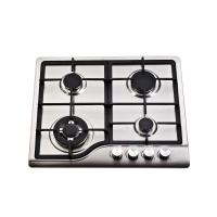 Sliver 4 Burner Gas Hob Stainless Steel , 4 Burner Gas Stove Top Home Appliances Manufactures