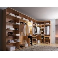 Modern style veneer door designs L-shaped wood clothes closet Manufactures