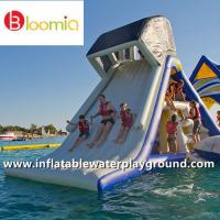 Quality Kids Fun Floating Inflatable Slide With Shelter For Water Sports Games for sale