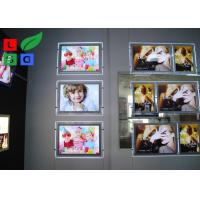Portrait View Crystal Light Box Display A2 Size With Cable Hanging Kits Manufactures