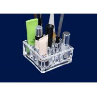 Acrylic Makeup Storage Organizer Retail Window With 9 Round Compartments Manufactures