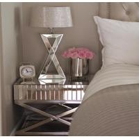 Bedroom Mirror Tables Furniture Silver / Gold Color Optional Stable Structure Manufactures
