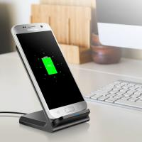 China Factory direct universal qi wireless charger for iphone8 IPHONE X fast charger for smart phones on sale