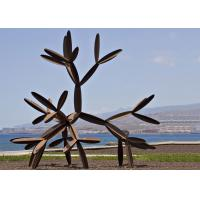 2.5mm Thick Entrance Sculture In Corten Steel / 3D Drawing Custom Metal Sculpture Manufactures