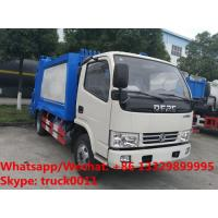 2018S best seller good price dongfeng 5m3 4tons compression garbage truck for sale, garbage compactor truck for sale Manufactures