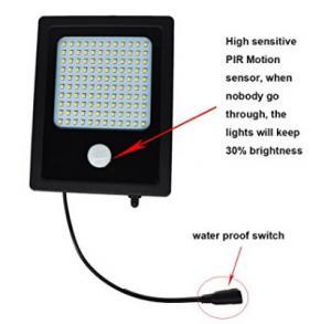 Quality High Output Solar Powered Flood Lights , 120 LED Solar PIR Security Light for sale
