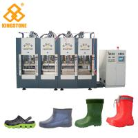 Buy cheap 2/4/6 Stations Plastic Shoes Making Machine For EVA Slipper Sandals / Foam Molding Type with 300-400 pairs/ hour from wholesalers