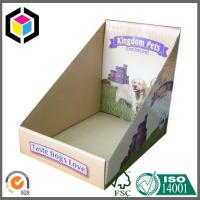Single Wall Corrugated Cardboard Promotion Display Box with Custom Color Print Manufactures