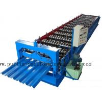 Professional Steel Metal Sheet Cold Roll Forming Machine , Roof Panel Roll Former 5 Ton Manufactures