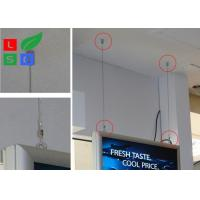 Quality Double Sided LED Light Box Snap Frame A1 A2 Poster Size For Indoor Ceiling for sale