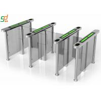 PVC Arm Supermarket Swing Gate , RFID Servo Motor Glass Turnstiles System Manufactures
