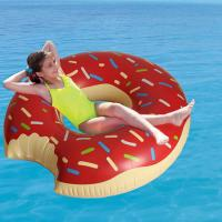 Custom Lovely Doughnut Shape Inflatable Swim Ring For Children / adult , PVC Pool Float Manufactures