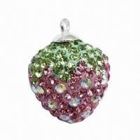 Fashionable Pendant with Crystal Strawberry Charm Manufactures
