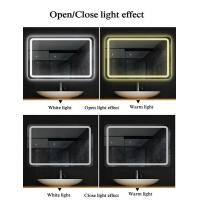 Illuminated LED Bathroom Mirrors , Copper Free Mirror Customized Size Manufactures