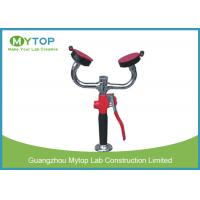 High Pressure Laboratory Fittings Spray Desktop Double Eye Wash For Lab Bench Manufactures