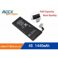 ACCX brand new high quality li-polymer internal mobile phone battery for IPhone 4S with high capacity of 1450mAh 3.7V Manufactures