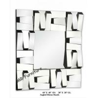 Square Stella 3D Wall Mirror For Hotel / Home Beveled Edge Mirror Manufactures