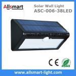 38LED 550 Lumens 7W Motion Sensor Solar Wall Light PIR Sensor Light Triangle Solar Lights Chinese Manufaturer Supplier Manufactures