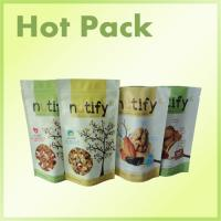 China Stand Up Snack Packaging Pouch Bags With Zipper Foil Lined , Wax Paper Sandwich Bags on sale