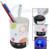 Buy cheap Blue Led Light Pen Holder 4 Ports USB Hub with Mini Speaker from wholesalers