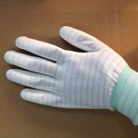 stripped ESD anti static PU coated gloves for electronic factory use Manufactures
