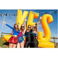 Outdoor Activity Inflatable Letter Decoration / Advertising Inflatables Wind Resistant Manufactures