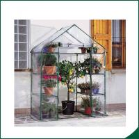 Agricultural Plastic Hot Houses Foldable Greenhouse With Film Or Plastic Sheet 6x8x6.6 Plant Growth Powder coated Manufactures