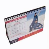 Quality 2012 professional  commercial  Glossy Desk Table Customized Calendar Printing Service for sale