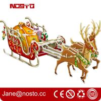 Christmas decoration reindeer sleigh with night edition giftware 3d puzzle Manufactures