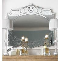 Decorative Venetian Glass Mirror , Wooden Frame 4mm Thickness Console Mirror Manufactures