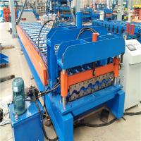 PLC Control Tile Trapezoidal Roll Forming Machine With Custom Color Manufactures