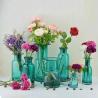 Flower Bottle Decorative Glass Vases Blue Transparent OEM With Custom Logo Manufactures