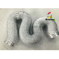 """2""""~20"""" Size Aluminum Flexible Duct Installation Easy Reinforced Double Layer Manufactures"""
